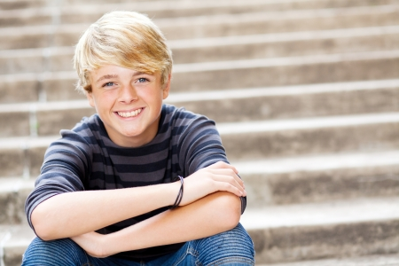 13738702 – cute teen boy closeup portrait